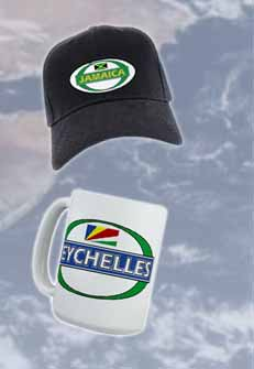 Jamaica hat and Seychelles cup from Proudgear, more countries available!